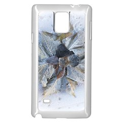 Winter Frost Ice Sheet Leaves Samsung Galaxy Note 4 Case (white)