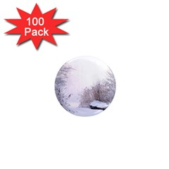 Winter Snow Ice Freezing Frozen 1  Mini Magnets (100 Pack)