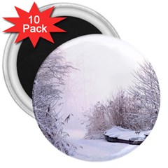 Winter Snow Ice Freezing Frozen 3  Magnets (10 Pack)