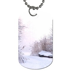 Winter Snow Ice Freezing Frozen Dog Tag (one Side)