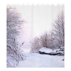 Winter Snow Ice Freezing Frozen Shower Curtain 66  X 72  (large)
