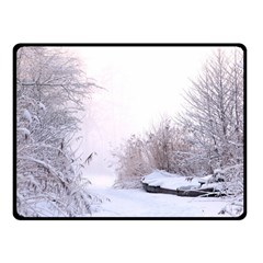 Winter Snow Ice Freezing Frozen Fleece Blanket (small)