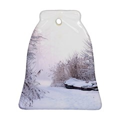 Winter Snow Ice Freezing Frozen Bell Ornament (two Sides)