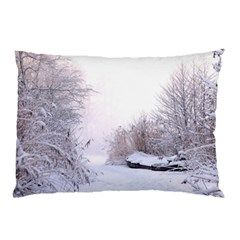 Winter Snow Ice Freezing Frozen Pillow Case (two Sides)