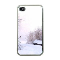 Winter Snow Ice Freezing Frozen Apple Iphone 4 Case (clear)
