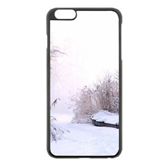 Winter Snow Ice Freezing Frozen Apple Iphone 6 Plus/6s Plus Black Enamel Case