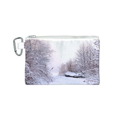 Winter Snow Ice Freezing Frozen Canvas Cosmetic Bag (s)