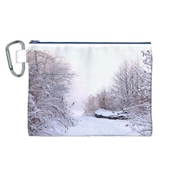 Winter Snow Ice Freezing Frozen Canvas Cosmetic Bag (l)