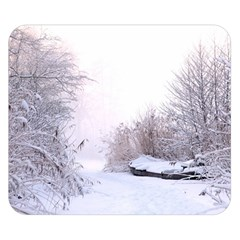 Winter Snow Ice Freezing Frozen Double Sided Flano Blanket (small)