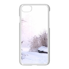 Winter Snow Ice Freezing Frozen Apple Iphone 7 Seamless Case (white)