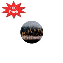 Trees Plants Nature Forests Lake 1  Mini Buttons (100 Pack)