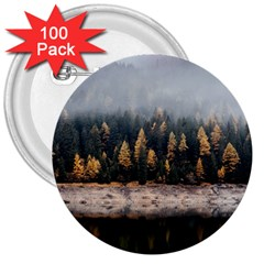 Trees Plants Nature Forests Lake 3  Buttons (100 Pack)