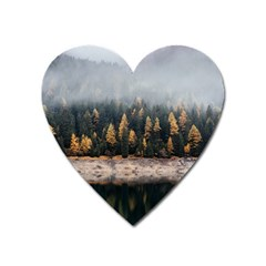 Trees Plants Nature Forests Lake Heart Magnet