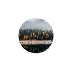 Trees Plants Nature Forests Lake Golf Ball Marker