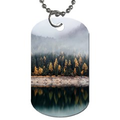 Trees Plants Nature Forests Lake Dog Tag (two Sides)