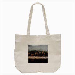 Trees Plants Nature Forests Lake Tote Bag (cream)