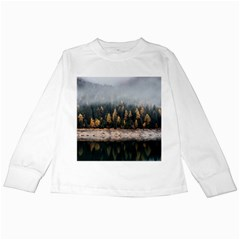 Trees Plants Nature Forests Lake Kids Long Sleeve T Shirts