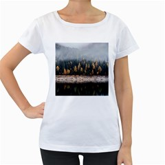 Trees Plants Nature Forests Lake Women s Loose Fit T Shirt (white)