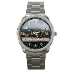 Trees Plants Nature Forests Lake Sport Metal Watch