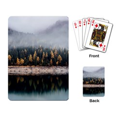 Trees Plants Nature Forests Lake Playing Card