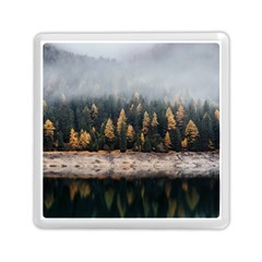 Trees Plants Nature Forests Lake Memory Card Reader (square)