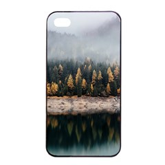 Trees Plants Nature Forests Lake Apple Iphone 4/4s Seamless Case (black)