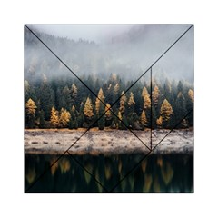 Trees Plants Nature Forests Lake Acrylic Tangram Puzzle (6  X 6 )