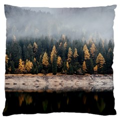 Trees Plants Nature Forests Lake Large Cushion Case (one Side)