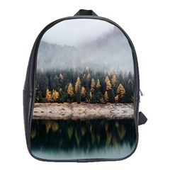 Trees Plants Nature Forests Lake School Bag (xl)