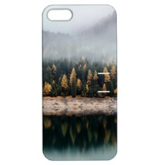 Trees Plants Nature Forests Lake Apple Iphone 5 Hardshell Case With Stand