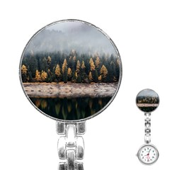 Trees Plants Nature Forests Lake Stainless Steel Nurses Watch