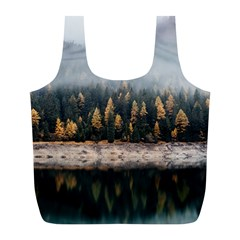 Trees Plants Nature Forests Lake Full Print Recycle Bags (l)