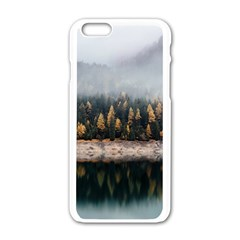 Trees Plants Nature Forests Lake Apple Iphone 6/6s White Enamel Case