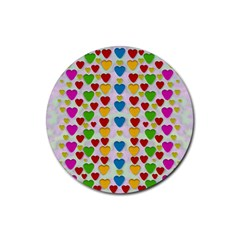 So Sweet And Hearty As Love Can Be Rubber Coaster (round)