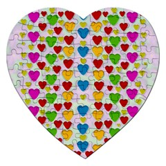 So Sweet And Hearty As Love Can Be Jigsaw Puzzle (heart)