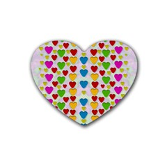 So Sweet And Hearty As Love Can Be Rubber Coaster (heart)