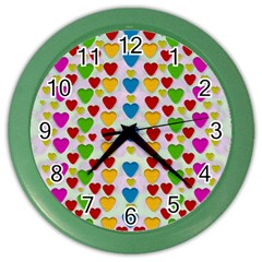 So Sweet And Hearty As Love Can Be Color Wall Clocks