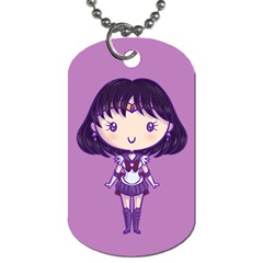 Cutie Saturn/pluto Dog Tag (two Sided)