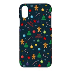 Christmas Pattern Apple Iphone X Hardshell Case