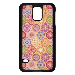 Bohemian Pattern Eye Orange Samsung Galaxy S5 Case (black)