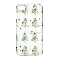 Christmas Tree   Pattern Apple Iphone 4/4s Hardshell Case With Stand