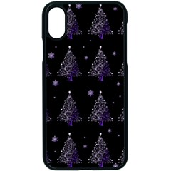 Christmas Tree   Pattern Apple Iphone X Seamless Case (black)