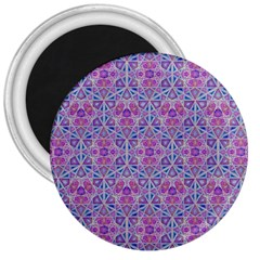 Star Tetrahedron Hand Drawing Pattern Purple 3  Magnets