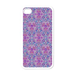 Star Tetrahedron Hand Drawing Pattern Purple Apple Iphone 4 Case (white)