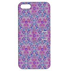 Star Tetrahedron Hand Drawing Pattern Purple Apple Iphone 5 Hardshell Case With Stand