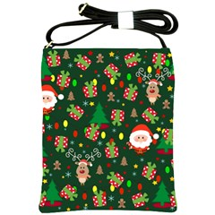 Santa And Rudolph Pattern Shoulder Sling Bags