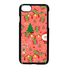 Santa And Rudolph Pattern Apple Iphone 8 Seamless Case (black)