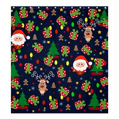 Santa And Rudolph Pattern Shower Curtain 66  X 72  (large)