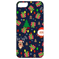 Santa And Rudolph Pattern Apple Iphone 5 Classic Hardshell Case