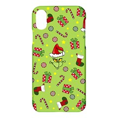 Grinch Pattern Apple Iphone X Hardshell Case